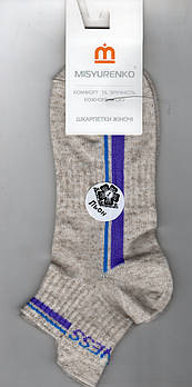 Носки женские демисезонные лён Sport Мисюренко, 11В211КЛ, укороченные, 25 размер, 1644