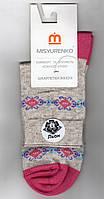 Носки женские демисезонные лён Мисюренко, 11В210КЛ, средние, 23 размер. 1649