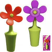 Стоппер (пробка) для бутылки Цветок силиконовая