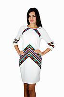 Плаття вишите жіноче, білого кольору з вишивкою, на 3/4 рукав.