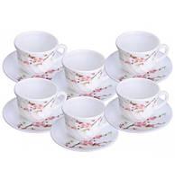"""Набор чашек для чая """"Японская Вишня"""" 190мл на 6 персон"""