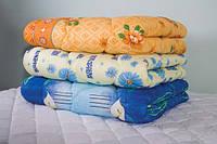 Одеяло: силикон-двойной, полуторка (Поликоттон)