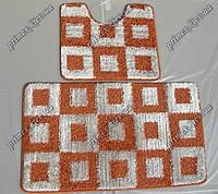 Набор ковриков для ванной с высоким ворсом 60х50 см/60х100 см