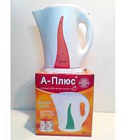 """Высококачественный электрический чайник с пластиковым корпусом """"А-Плюс Эко"""" код 1675"""