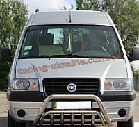 Защита переднего бампера кенгурятник из нержавейки на Fiat Scudo 1996-2006