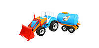 Детская машина трактор с прицепом Молоко . Новинка 2016!