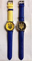 """Часы """"Сине-желтый флаг Украины"""" Патриот (желто-голубой ремешок) (Арт. 89)"""