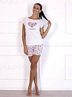 Комплект домашний, пижама красивого цвета c ярким принтом 596.