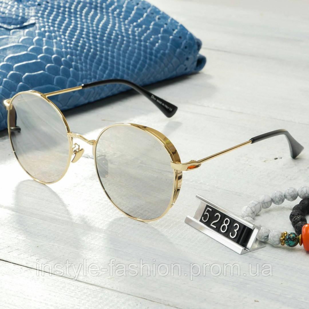 Женские брендовые очки копия Диор реплика капли круглые