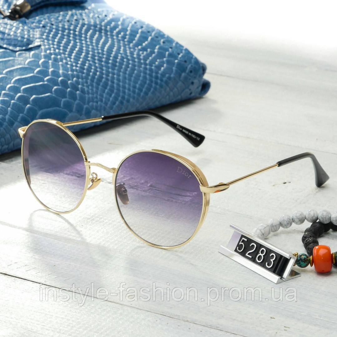 Женские брендовые очки копия Диор капли круглые