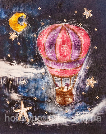 """Набор для вышивания бисером """"На воздушном шаре"""", фото 2"""