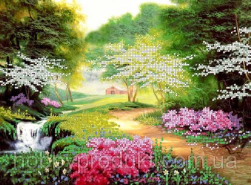 """Рисунок на ткани для вышивания бисером """"Цветущий парк 2"""", фото 2"""