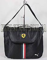 Черная спортивная сумка с длинной ручкой Ферари