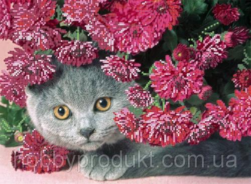 """Рисунок на ткани для вышивания бисером """"Кошка Ветка"""", фото 2"""