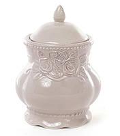 Сахарница Leeds Розы 300мл, бежевая керамика