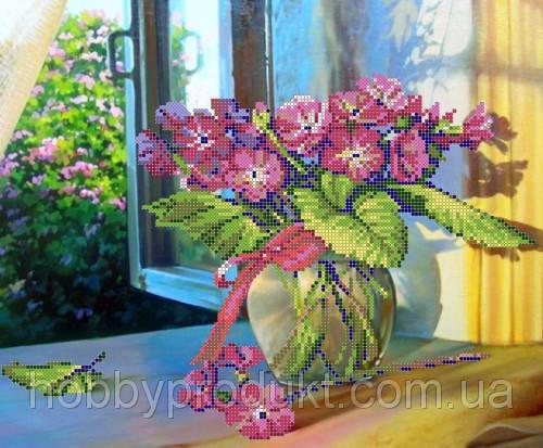 """Рисунок на ткани для вышивания бисером """"Натюрморт на окне"""", фото 2"""