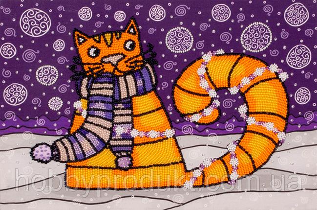 """Набор для вышивания бисером """"Полярный кот"""", фото 2"""