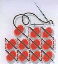 """Рисунок на ткани для вышивания бисером """"Полевые цветы"""", фото 3"""