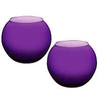 Ваза Flora WorkShop сфера 102мм пурпурное стекло
