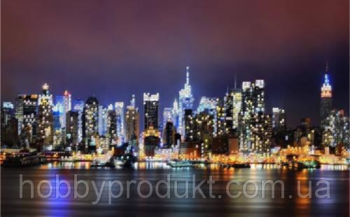 """Рисунок на ткани для вышивания бисером """" Нью-Йорк"""", фото 2"""