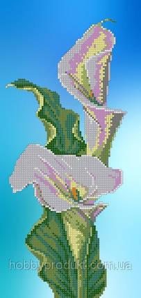 """Рисунок на ткани для вышивания бисером """"  Белые каллы"""", фото 2"""