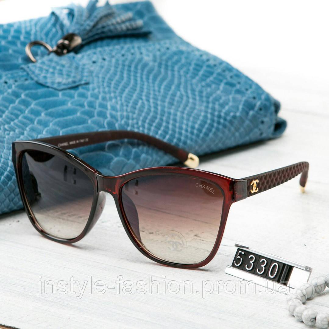 b0308cef3efe Женские брендовые очки Шанель Chanel коричневые - Сумки брендовые,  кошельки, очки, женская одежда