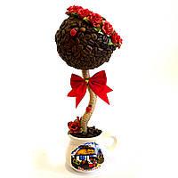 Сувенир подарок ручной роботы Кофейное дерево с розами