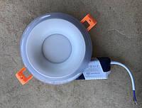 Светодиодный декоративный светильник RIGHT HAUSEN Rim 3+3W 4000K (синяя подсветка) белый Код.58859
