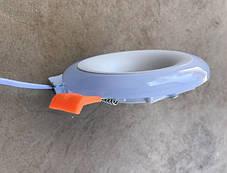 Светодиодный декоративный светильник RIGHT HAUSEN Rim 3+3W 4000K (синяя подсветка) белый Код.58859, фото 2
