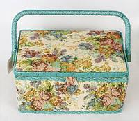 "Шкатулка для рукоделия ""Мастерица Tapestry Pastorale"", 29x17.5x17см"