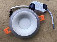 Светодиодный декоративный светильник RIGHT HAUSEN Rim 3+3W 4000K (белая подсветка) белый Код.58860