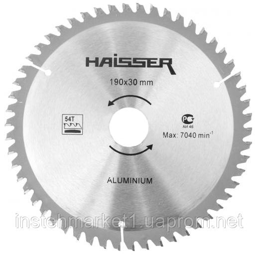 Диск пильный Haisser 190х30 54 зуб по аллюминию (отрицательный зуб)