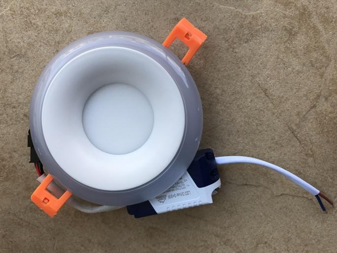 Светодиодный декоративный светильник RIGHT HAUSEN Rim 3+3W 4000K (розовая подсветка) белый Код.58861