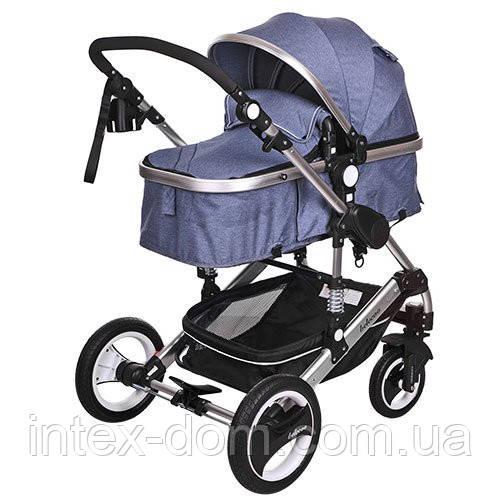 Детская коляска-трансформер Bambi Синяя (535-Q3-BLUE)