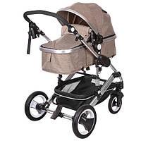 Детская коляска-трансформер Bambi Бежевая (535-Q3-KHAKI), фото 1