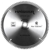 Диск пильный Haisser 250х30 100 зуб по аллюминию (отрицательный зуб)