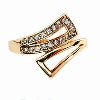 Красивое женское кольцо позолоченное