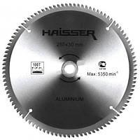 Диск пильный Haisser 255х30 100 зуб по аллюминию (отрицательный зуб)