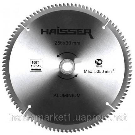 Диск пильный Haisser 255х30 100 зуб по аллюминию (отрицательный зуб), фото 2