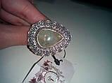 Кольцо с натуральным камнем пренит капский изумруд в серебре. Размер 17. Кольцо с пренитом Индия , фото 3