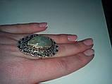 Кольцо с натуральным камнем пренит капский изумруд в серебре. Размер 17. Кольцо с пренитом Индия , фото 6