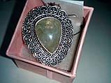 Кольцо с натуральным камнем пренит капский изумруд в серебре. Размер 17. Кольцо с пренитом Индия , фото 7