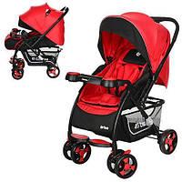 Детская прогулочная коляска Drive Красная (M 3424-3)