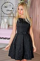 Вечернее платье из жакарда черное