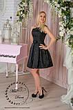 Вечернее платье из жакарда черное, фото 2