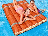 Надувной матрас для плаванья в виде деревянного плота