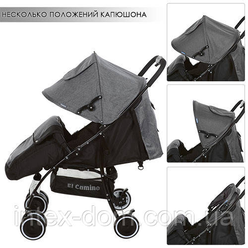 Детская прогулочная коляска (M 3433-1 CENTRO) (Серый)
