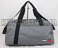 Практичная качественная серая спортивно-дорожная сумка среднего размера на 3 отделения
