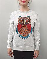 Женский свитшот с совой