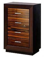 Комод 60/4 Клео (SM), элемент модульного комплекта мебели для спальни, макассар/светлый венге 616*945*385